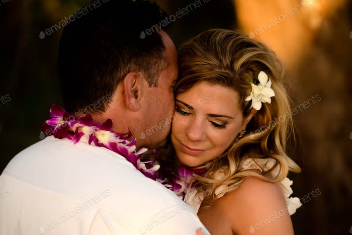 After our vow renewals on the beach in Maui.
