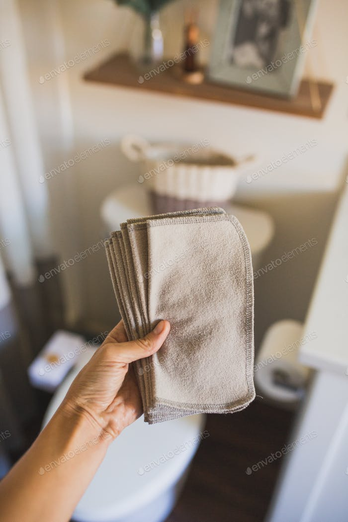 Reusable flannel wipes
