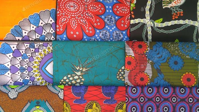 Fabric in a market in Botswana