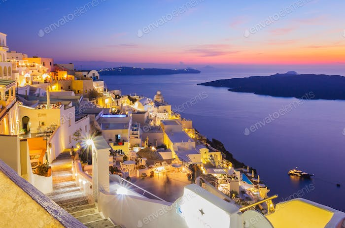 Santorini twilight
