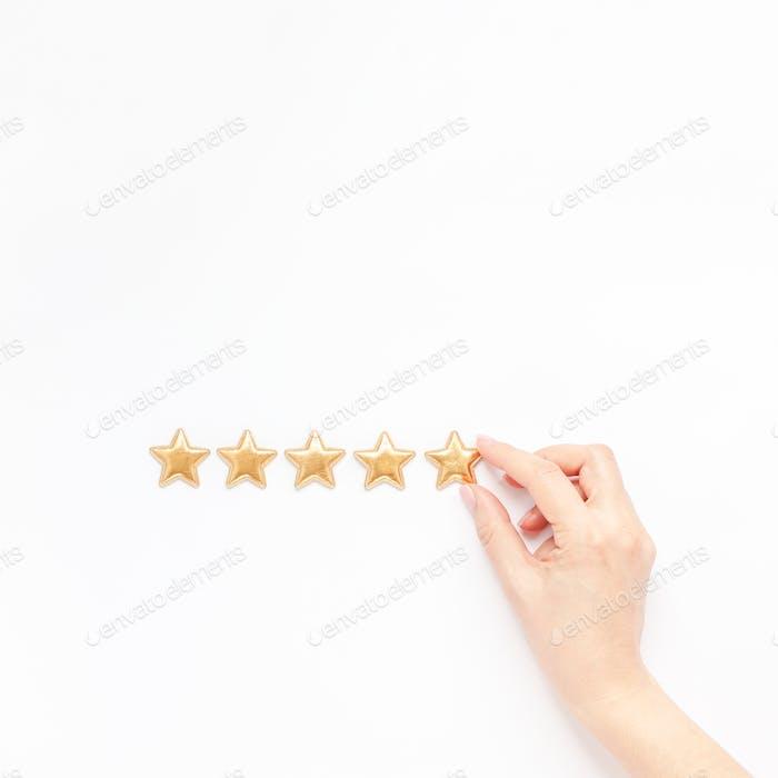 Concepto de comentarios de experiencia del cliente