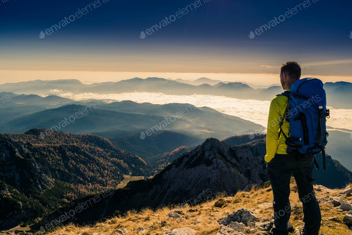 A magnifiscent view from Veliki Draski Vrh, Julian Alps.