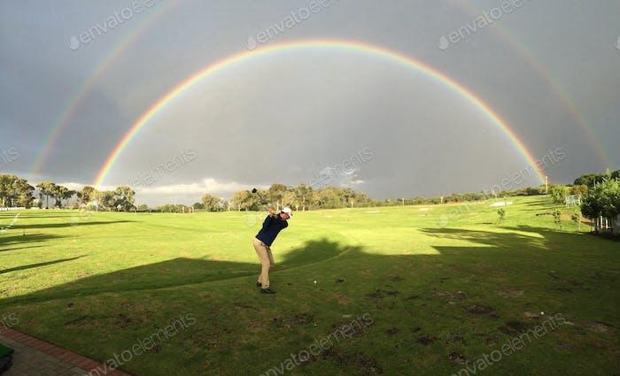 Double rainbow double fun!