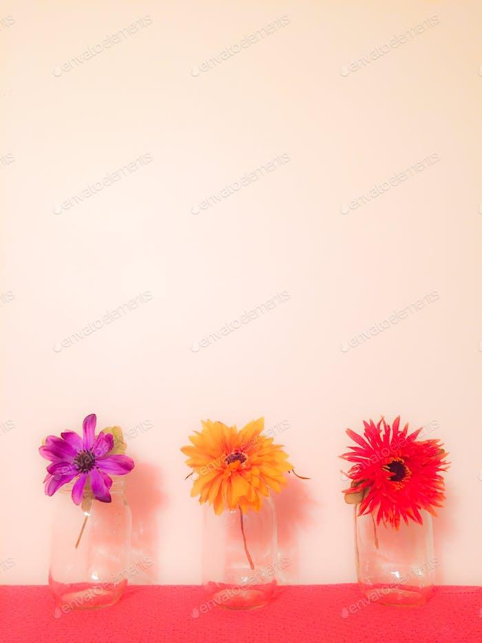 Einmachglas Blumen