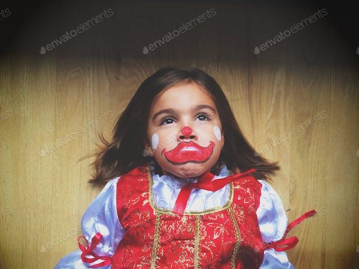The sad clown, Halloween fun