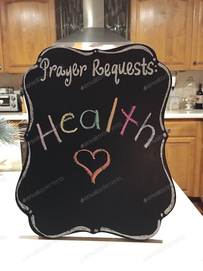 Oraciones por la salud. Solicitud, Dios