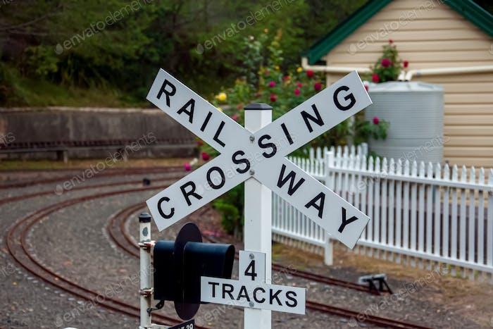 Schild Bahnübergang Sydney Live Steam Locomotive Society - Minizüge West Ryde