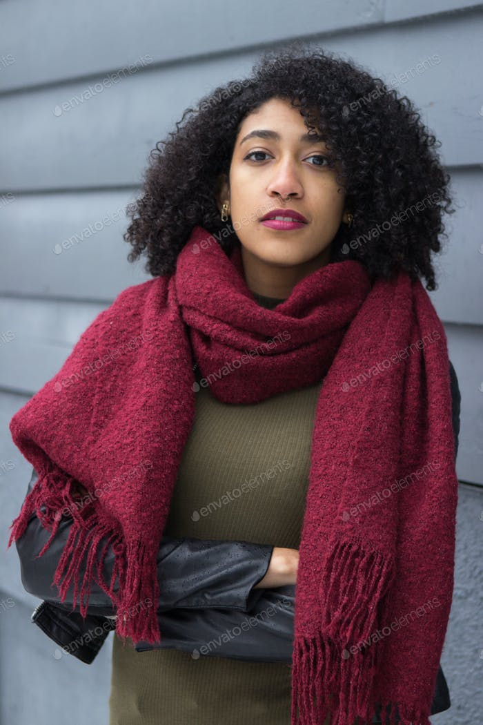 Red Scarf and Lipstick