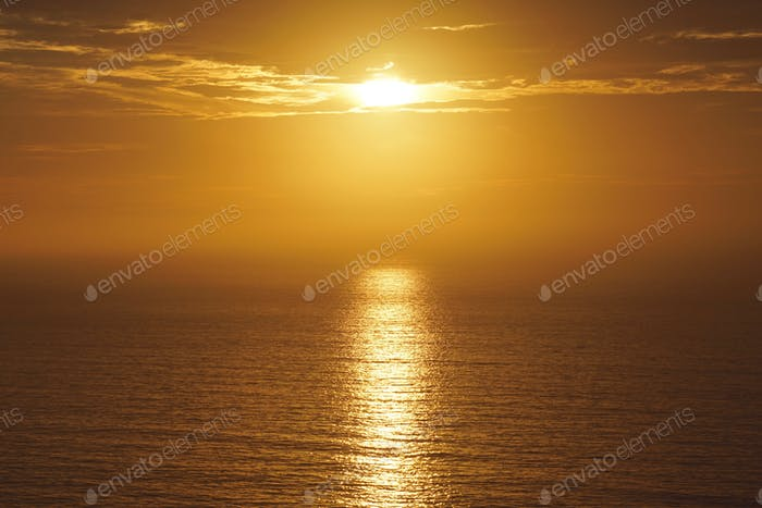Our sun, setting over the Pacific. Awe inspiring.