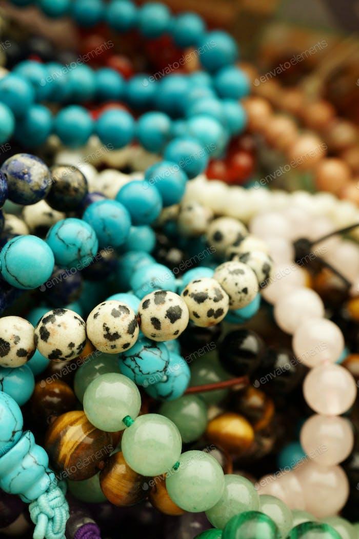 Mixed Gemstone bracelets and necklaces