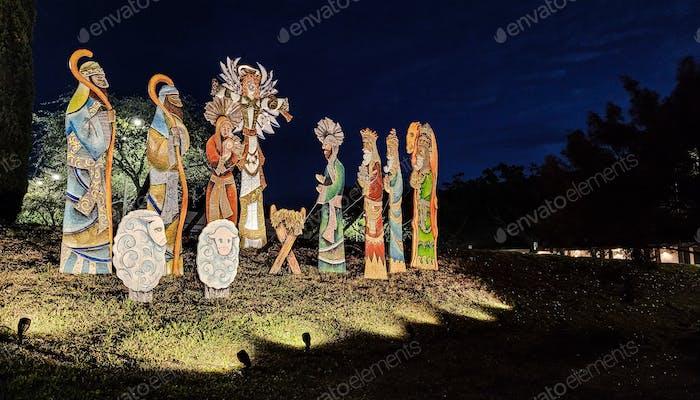 The birth of Jesus...