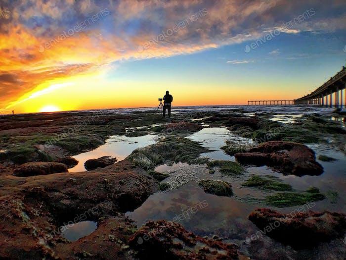 Beautiful evening in San Diego, California