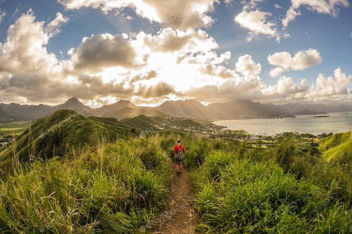 Sunset path - Hawaii