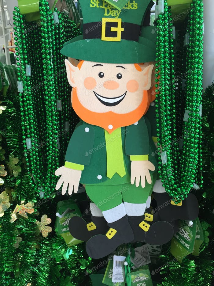 A happy leprechaun decoration for St.Patrick's Day!
