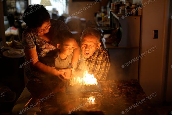 Birthday cake celebration.