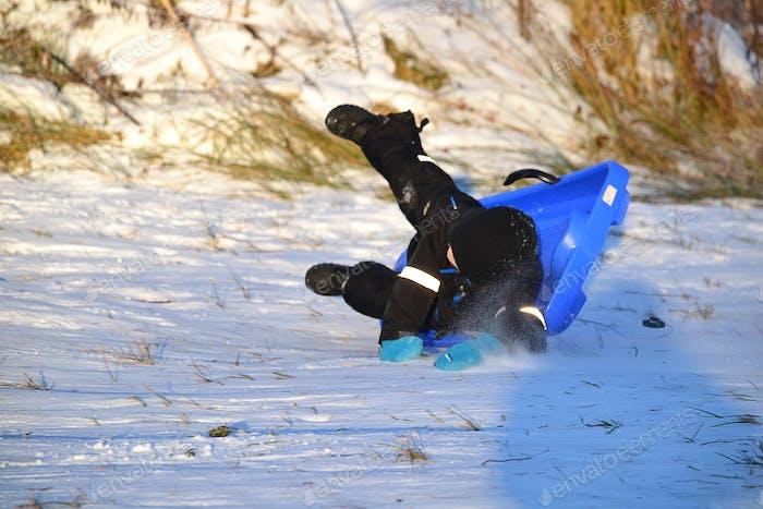 Crashing with the sled