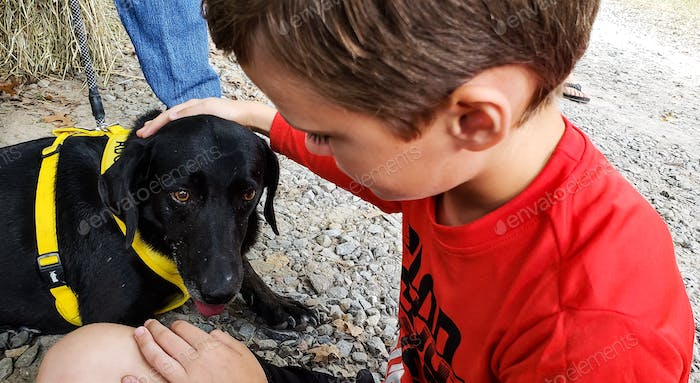 A little boys love for his dog is special especially when it is a canine adoption from the humane