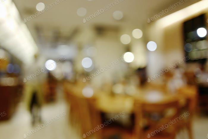 Blurry cafe