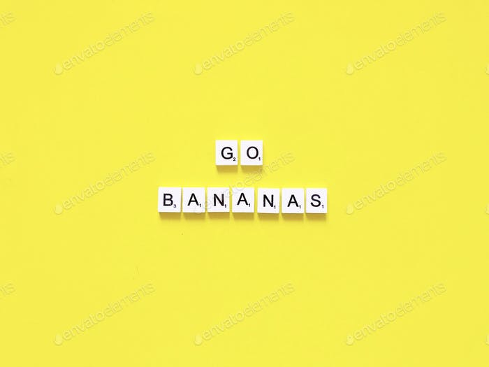 Go bananas 🍌 White Scrabbles