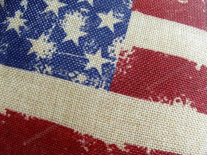 USA-Flagge auf Hessisch
