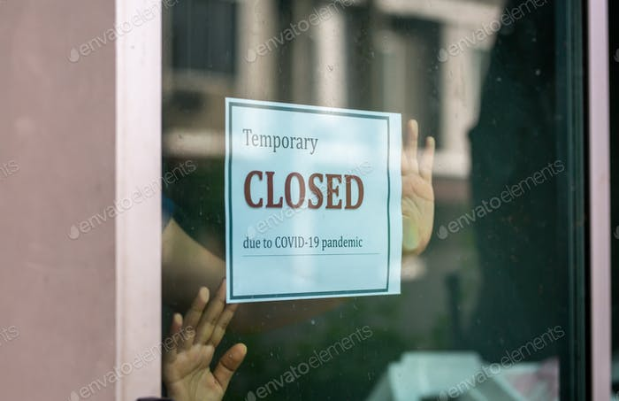 Closed businesses for COVID-19 pandemic outbreak