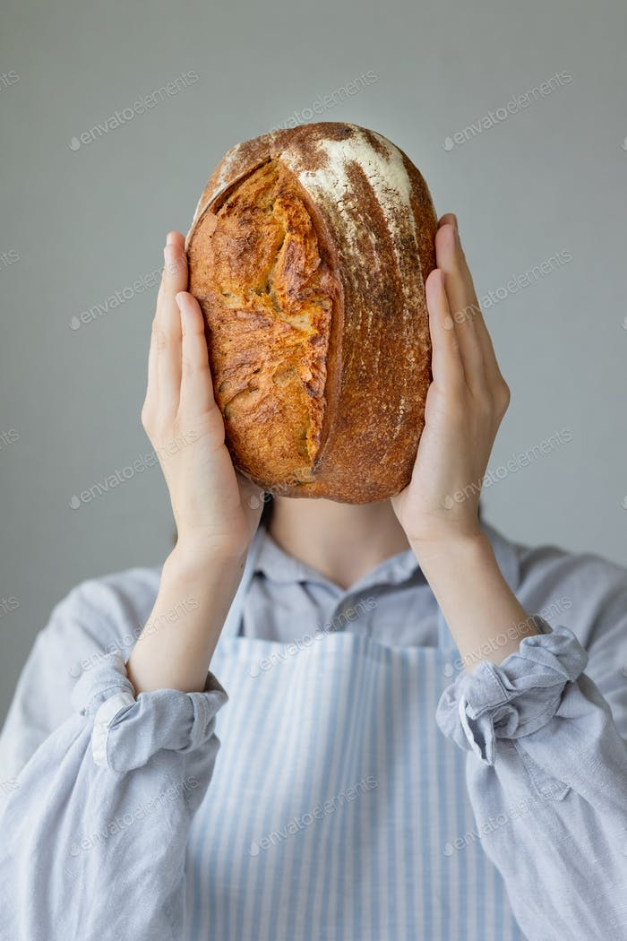 ancient bread baking recipes, bread on the head