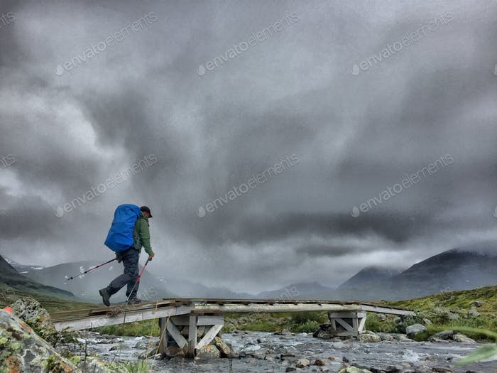 Hiking Kungsleden (Swedish Lapland) during bad weather conditions