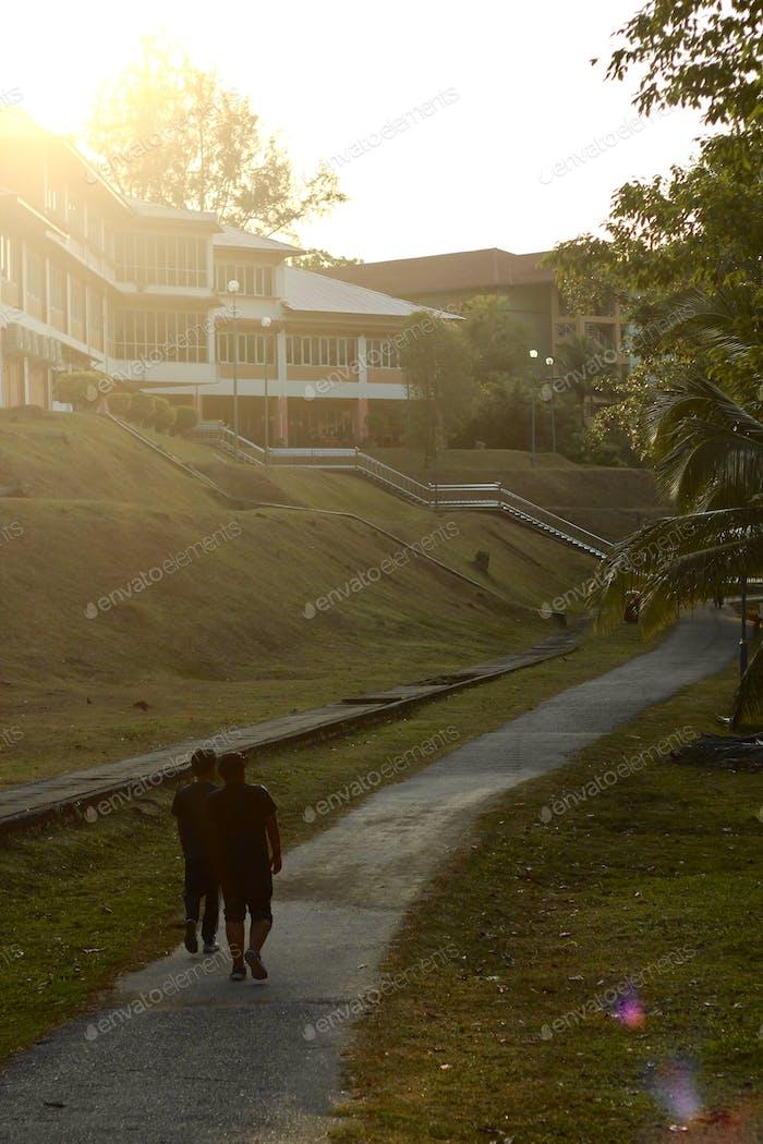 Two man jogging