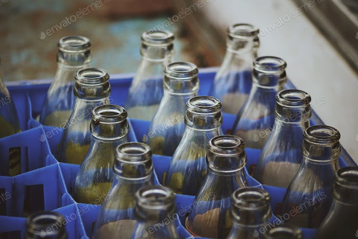 Sustainable and glass bottles
