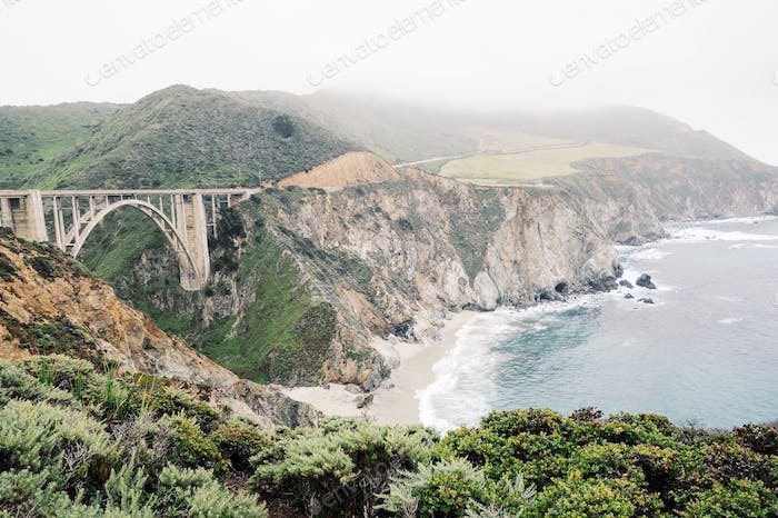 My first look at Big Sur - overlooking the Bixby Bridge thinking about the beauty of contrast.