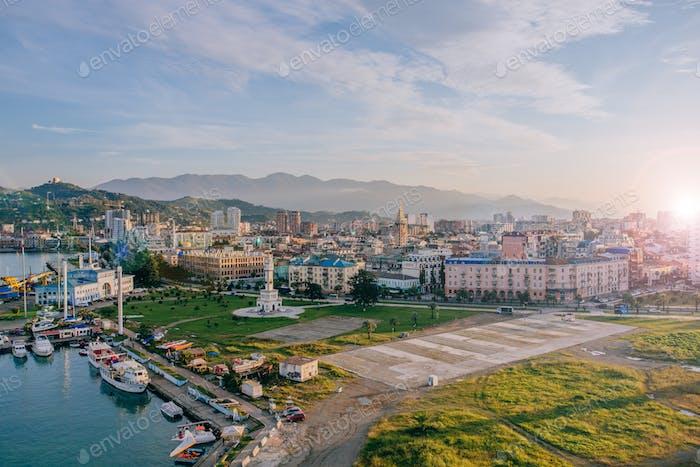 Batumi coastline at october time
