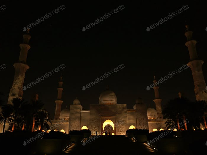 Twilight Mosque Sheikh Zayed Grand Mosque Abu Dhabi