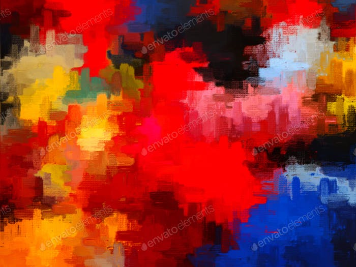Bright bold and colorful digital abstract art background
