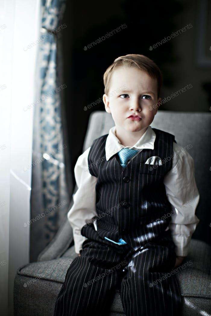 Fancy boy in suit