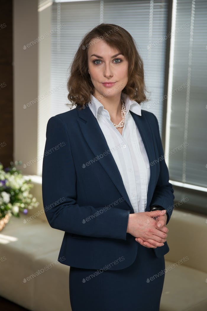 Young business woman in suit, professional look