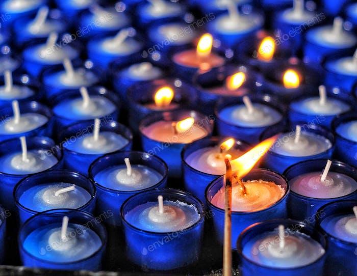 A prayer in a flame