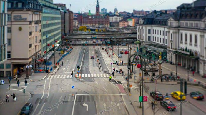 Диорама над главной улицей