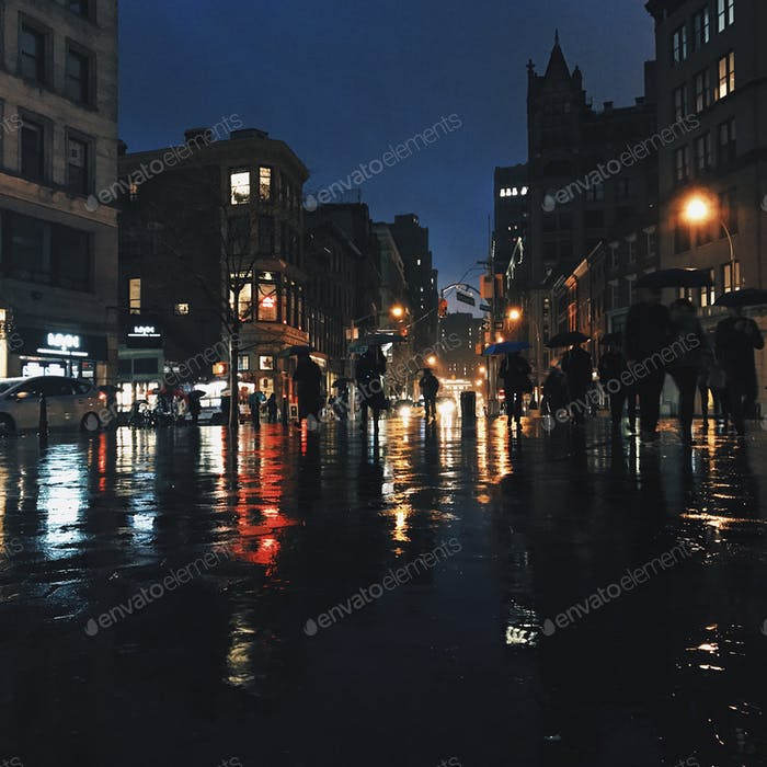 Caminantes lluviosos