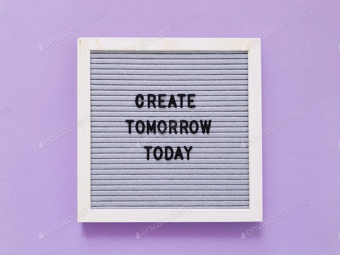 Crea mañana hoy