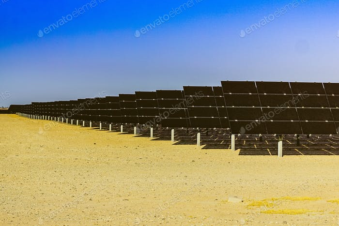 Solar panels at a solar farm