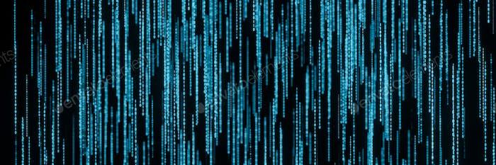 Transmisión de números de código de matriz binaria en la representación 3D panorámica de la pantalla