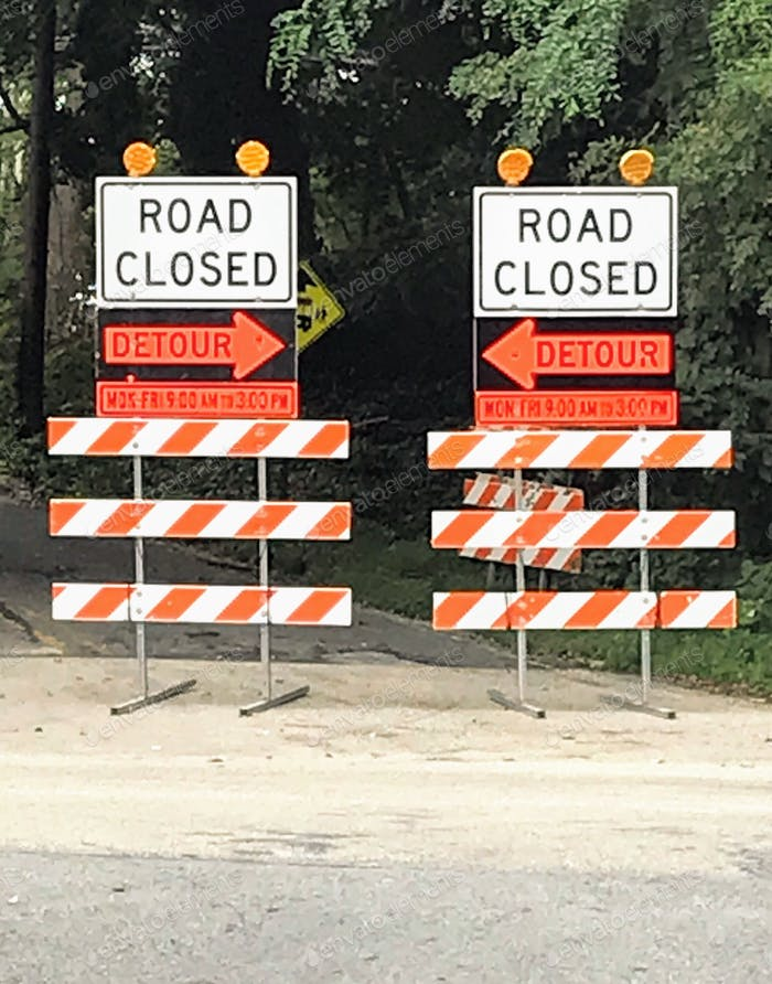 Road closed ... which way do I go ?