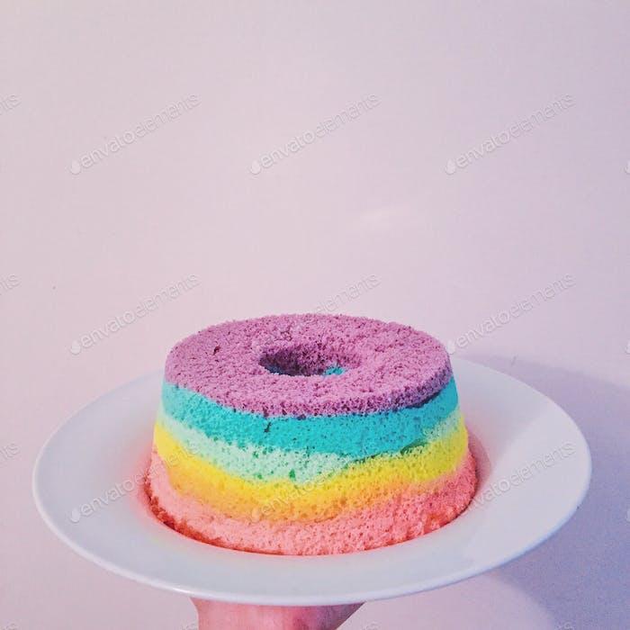 Rainbow Chiffon Cake Photo By Twenty20photos On Envato Elements