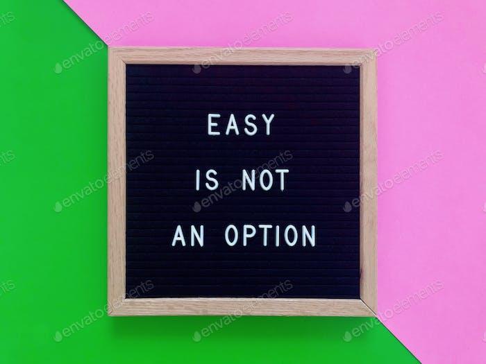 Einfach ist keine Option