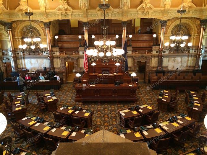 Der Senat von Kansas ist bereit für die Sitzung. Topeka. - Kansas. Politik & USA Reisen.