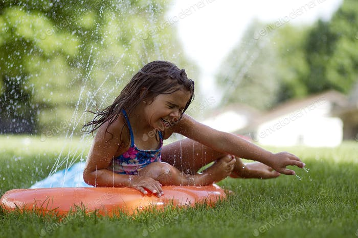 Slip and slide summertime
