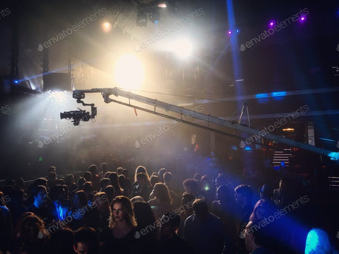 Filming in the Avalon nightclub in Hollywood