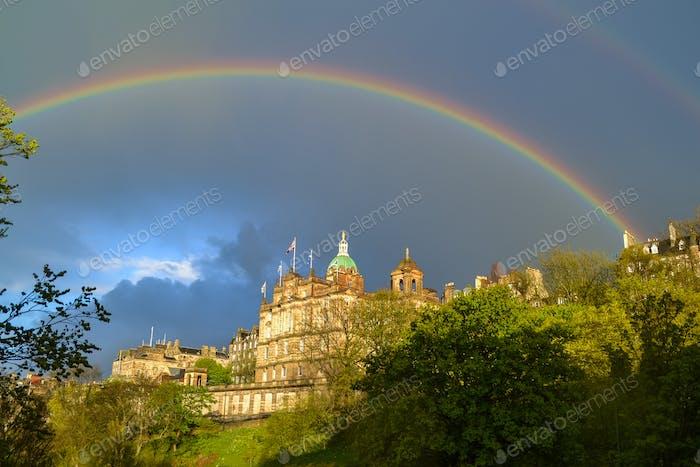 Beautiful rainbow in Edinburgh.