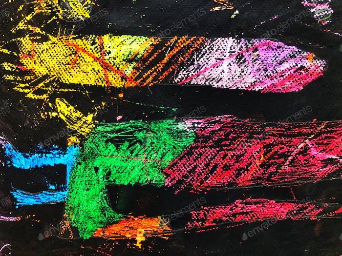 Abstract art. Child's artwork. Kid's artwork. Art class. Colorful artwork.