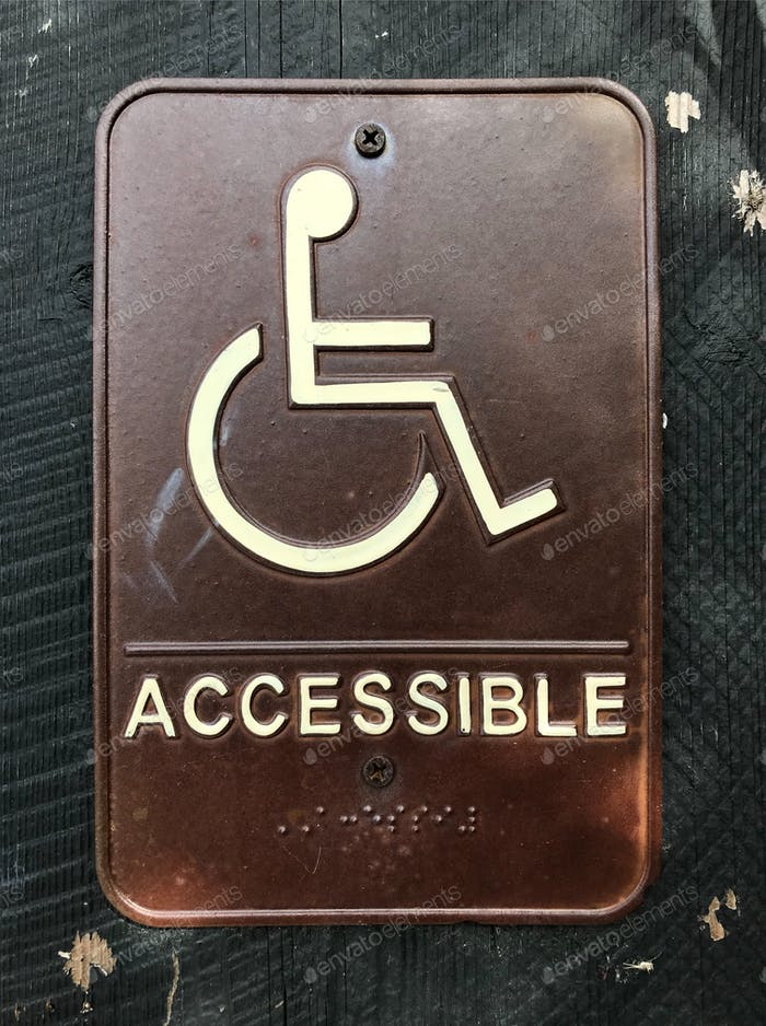 Wheelchair and handicapped sign for equality